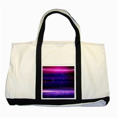 Space Planet Pink Blue Purple Two Tone Tote Bag by Alisyart