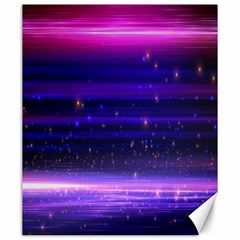 Space Planet Pink Blue Purple Canvas 20  X 24   by Alisyart