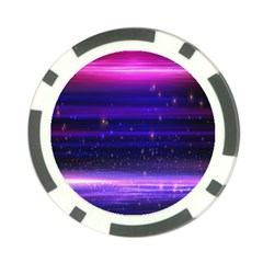 Space Planet Pink Blue Purple Poker Chip Card Guard by Alisyart
