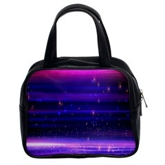 Space Planet Pink Blue Purple Classic Handbags (2 Sides) by Alisyart