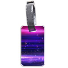 Space Planet Pink Blue Purple Luggage Tags (one Side)  by Alisyart