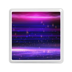 Space Planet Pink Blue Purple Memory Card Reader (square)  by Alisyart
