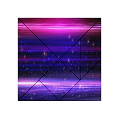 Space Planet Pink Blue Purple Acrylic Tangram Puzzle (4  X 4 ) by Alisyart