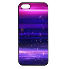 Space Planet Pink Blue Purple Apple Iphone 5 Seamless Case (black)