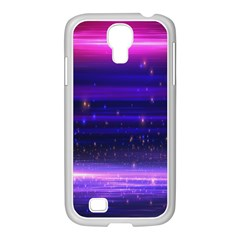 Space Planet Pink Blue Purple Samsung Galaxy S4 I9500/ I9505 Case (white) by Alisyart