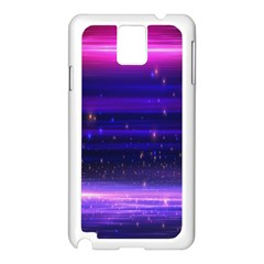 Space Planet Pink Blue Purple Samsung Galaxy Note 3 N9005 Case (white) by Alisyart