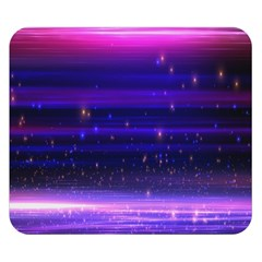 Space Planet Pink Blue Purple Double Sided Flano Blanket (small)  by Alisyart