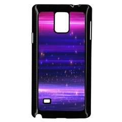 Space Planet Pink Blue Purple Samsung Galaxy Note 4 Case (black) by Alisyart