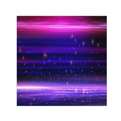 Space Planet Pink Blue Purple Small Satin Scarf (square)
