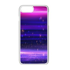 Space Planet Pink Blue Purple Apple Iphone 7 Plus White Seamless Case by Alisyart