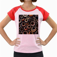Seamless Cubes Texture Circle Black Orange Red Color Rainbow Women s Cap Sleeve T Shirt by Alisyart