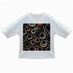 Seamless Cubes Texture Circle Black Orange Red Color Rainbow Infant/toddler T-shirts by Alisyart