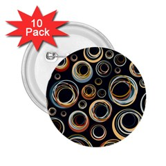 Seamless Cubes Texture Circle Black Orange Red Color Rainbow 2 25  Buttons (10 Pack)