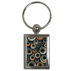 Seamless Cubes Texture Circle Black Orange Red Color Rainbow Key Chains (rectangle)  by Alisyart