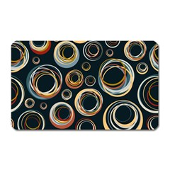 Seamless Cubes Texture Circle Black Orange Red Color Rainbow Magnet (rectangular) by Alisyart