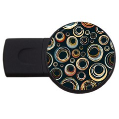 Seamless Cubes Texture Circle Black Orange Red Color Rainbow Usb Flash Drive Round (4 Gb) by Alisyart
