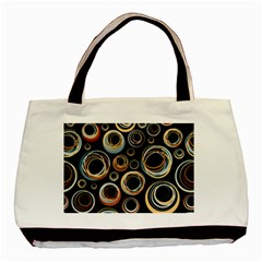 Seamless Cubes Texture Circle Black Orange Red Color Rainbow Basic Tote Bag by Alisyart