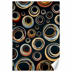 Seamless Cubes Texture Circle Black Orange Red Color Rainbow Canvas 12  X 18   by Alisyart