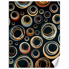 Seamless Cubes Texture Circle Black Orange Red Color Rainbow Canvas 18  X 24   by Alisyart