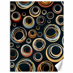 Seamless Cubes Texture Circle Black Orange Red Color Rainbow Canvas 36  X 48   by Alisyart