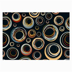 Seamless Cubes Texture Circle Black Orange Red Color Rainbow Large Glasses Cloth (2 Side) by Alisyart
