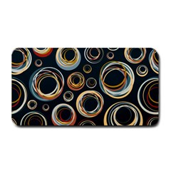 Seamless Cubes Texture Circle Black Orange Red Color Rainbow Medium Bar Mats by Alisyart