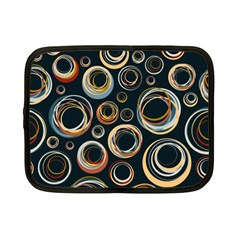 Seamless Cubes Texture Circle Black Orange Red Color Rainbow Netbook Case (small)  by Alisyart
