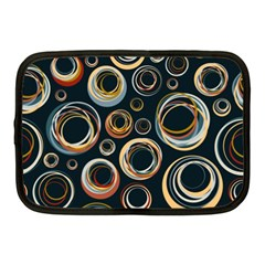 Seamless Cubes Texture Circle Black Orange Red Color Rainbow Netbook Case (medium)  by Alisyart