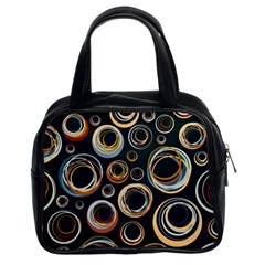 Seamless Cubes Texture Circle Black Orange Red Color Rainbow Classic Handbags (2 Sides) by Alisyart
