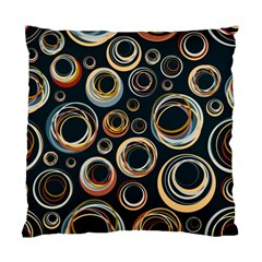 Seamless Cubes Texture Circle Black Orange Red Color Rainbow Standard Cushion Case (two Sides) by Alisyart