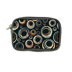 Seamless Cubes Texture Circle Black Orange Red Color Rainbow Coin Purse