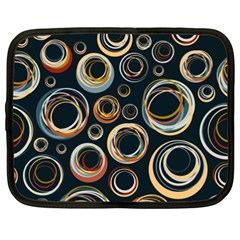 Seamless Cubes Texture Circle Black Orange Red Color Rainbow Netbook Case (xxl)  by Alisyart