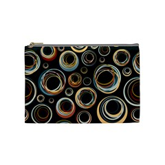 Seamless Cubes Texture Circle Black Orange Red Color Rainbow Cosmetic Bag (medium)  by Alisyart