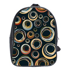 Seamless Cubes Texture Circle Black Orange Red Color Rainbow School Bags(large)  by Alisyart