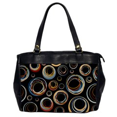 Seamless Cubes Texture Circle Black Orange Red Color Rainbow Office Handbags by Alisyart