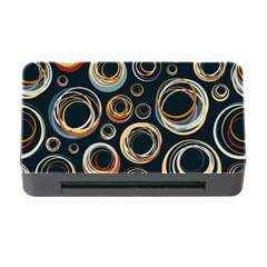 Seamless Cubes Texture Circle Black Orange Red Color Rainbow Memory Card Reader With Cf by Alisyart