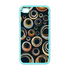 Seamless Cubes Texture Circle Black Orange Red Color Rainbow Apple Iphone 4 Case (color) by Alisyart