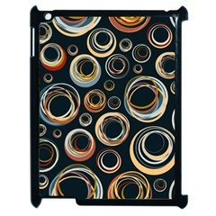 Seamless Cubes Texture Circle Black Orange Red Color Rainbow Apple Ipad 2 Case (black) by Alisyart