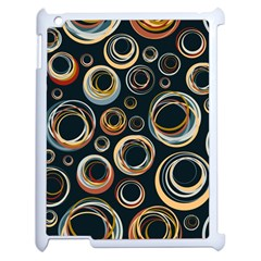 Seamless Cubes Texture Circle Black Orange Red Color Rainbow Apple Ipad 2 Case (white) by Alisyart