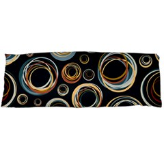 Seamless Cubes Texture Circle Black Orange Red Color Rainbow Body Pillow Case (dakimakura) by Alisyart