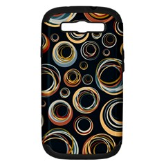Seamless Cubes Texture Circle Black Orange Red Color Rainbow Samsung Galaxy S Iii Hardshell Case (pc+silicone) by Alisyart