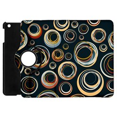 Seamless Cubes Texture Circle Black Orange Red Color Rainbow Apple Ipad Mini Flip 360 Case by Alisyart