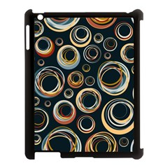 Seamless Cubes Texture Circle Black Orange Red Color Rainbow Apple Ipad 3/4 Case (black) by Alisyart