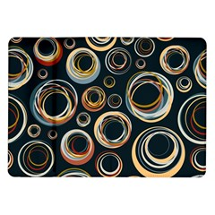 Seamless Cubes Texture Circle Black Orange Red Color Rainbow Samsung Galaxy Tab 10 1  P7500 Flip Case