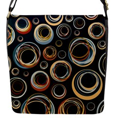 Seamless Cubes Texture Circle Black Orange Red Color Rainbow Flap Messenger Bag (s) by Alisyart