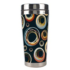 Seamless Cubes Texture Circle Black Orange Red Color Rainbow Stainless Steel Travel Tumblers by Alisyart