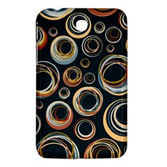 Seamless Cubes Texture Circle Black Orange Red Color Rainbow Samsung Galaxy Tab 3 (7 ) P3200 Hardshell Case  by Alisyart
