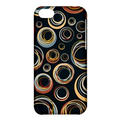 Seamless Cubes Texture Circle Black Orange Red Color Rainbow Apple Iphone 5c Hardshell Case by Alisyart