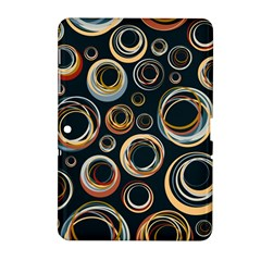 Seamless Cubes Texture Circle Black Orange Red Color Rainbow Samsung Galaxy Tab 2 (10 1 ) P5100 Hardshell Case  by Alisyart