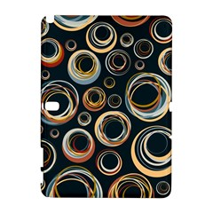 Seamless Cubes Texture Circle Black Orange Red Color Rainbow Galaxy Note 1 by Alisyart